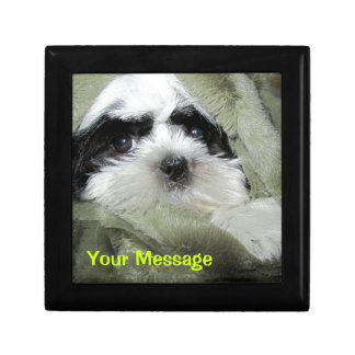 Baby Shih Tzu Puppy Gifts to Personalize Gift Box