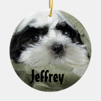 Baby Shih Tzu Puppy Ornament to Personalize