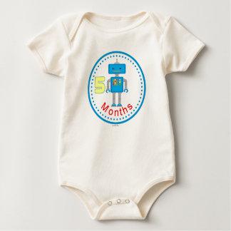 Baby Shirt 5 months Blue Robot