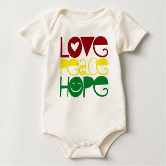 Baby Shirt, Love Peace Hope Baby Bodysuit