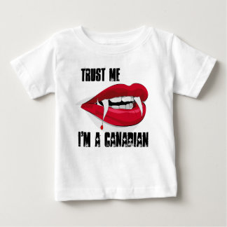 Baby shirt Trust Me I'm A Canadian Zombie