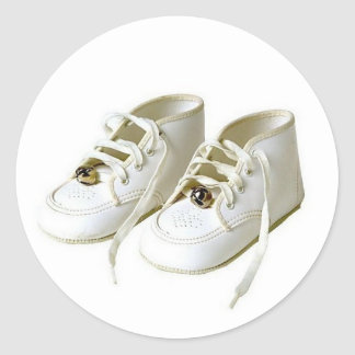 Baby Shoes Envelope Seal Classic Round Sticker
