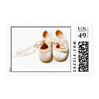 Baby Shoes Postage Stamp