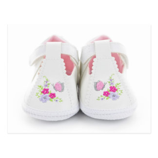 Baby shoes postcard