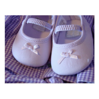 Baby Shoes Postcards Cute Sweet Booties Lavender