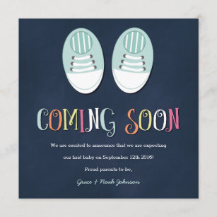71b3eedf059a6 Baby Shoes Pregnancy Announcement in Navy