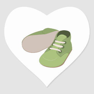 Baby Shoes Heart Stickers