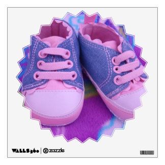 Baby Shoes Wall Decals Pink Girl's shoes custom