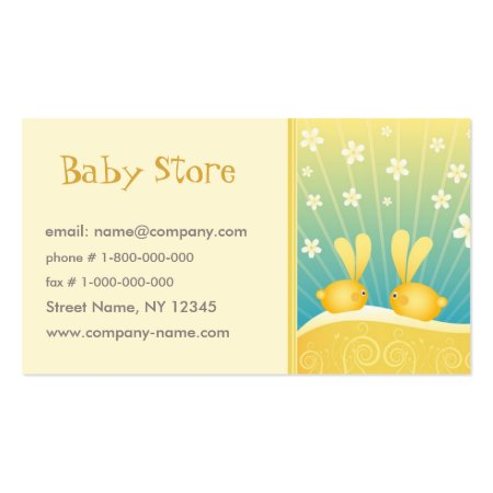 Cute Whimsical Baby Bunny Rabbits Calling Cards