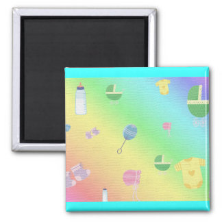 BABY SHOWER 2 INCH SQUARE MAGNET