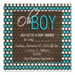"Baby Shower 5.25"" Square Invitation Card"