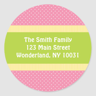 Baby Shower Address Label - Pink/Green Stickers