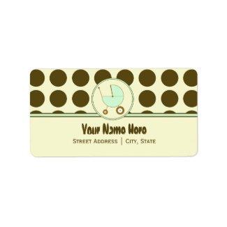 Baby Shower Address Label- Polka Dot & Green label
