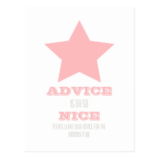 BABY SHOWER ADVICE CARD