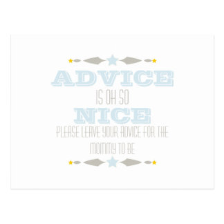 BABY SHOWER ADVICE CARD POSTCARDS
