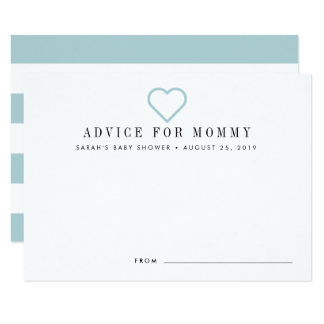Baby Shower Advice Cards | Blue