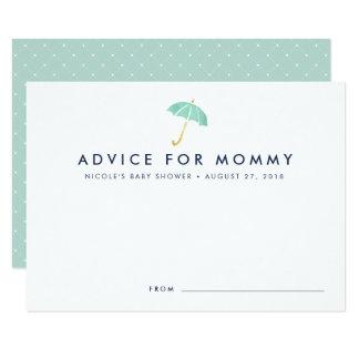Baby Shower Advice Cards | Mint Umbrella