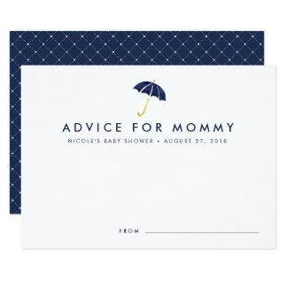 Baby Shower Advice Cards | Navy Umbrella