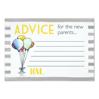 Baby Shower Advice for New Parents Card