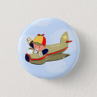 Baby Shower Airplane Pinback Button