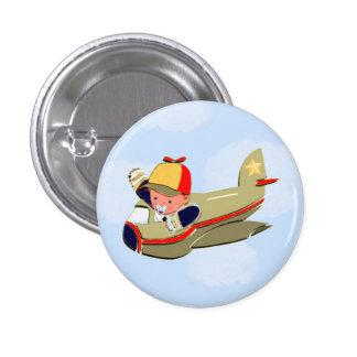Baby Shower Airplane Pinback Button