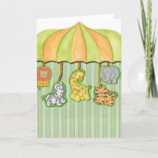 Baby Shower Animal Print card
