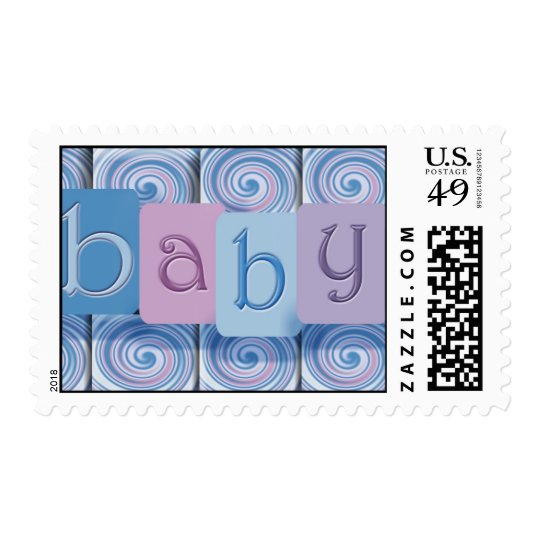 Baby shower / announcement postage stamp