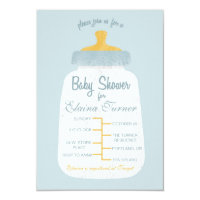 Baby Shower Baby Bottle Invitation
