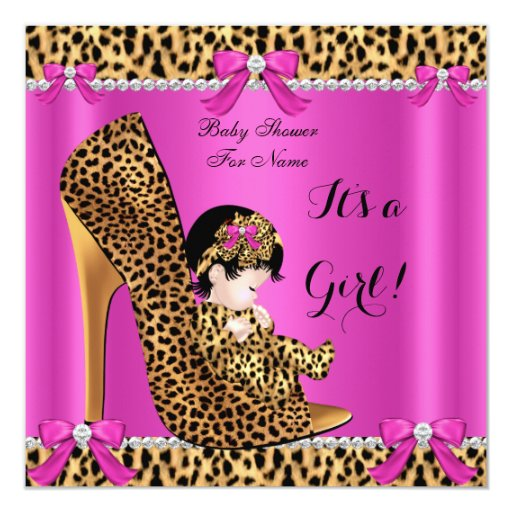 338 pink leopard baby shower invitations pink leopard baby shower