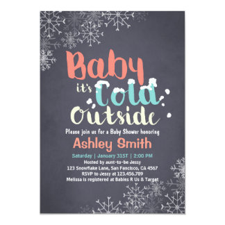 Baby Shower Baby its cold outside invitation