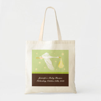Baby Shower Bag - Green and Brown