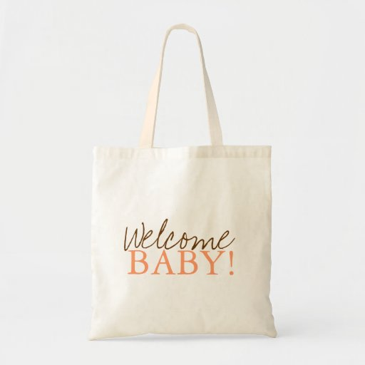 baby shower bag welcome zazzle