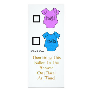 Baby Shower Ballot Inivitations  - Customize It! 4x9.25 Paper Invitation Card
