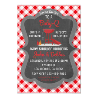 Baby Shower Barbecue Invitation Q Party