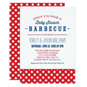 Red Blue Baby Shower Invitations Announcements Zazzle