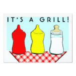 "Funny ""It's A Grill!"" BBQ/Cookout Baby Shower Invitation"