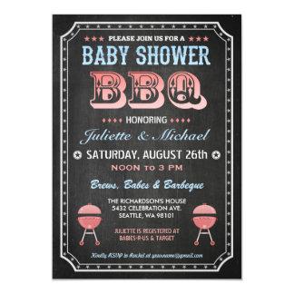 Baby Shower BBQ Invitations (Chalkboard)