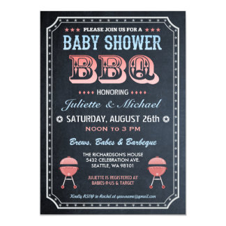 Baby Shower BBQ Invitations (Chalkboard) v.2