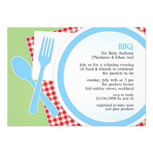 baby shower bbq party invitation 5 x 7 invitation card zazzle