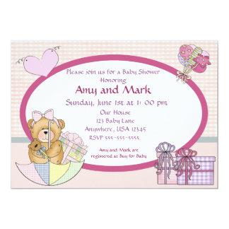 Baby shower bear invitation