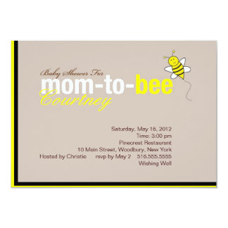 Baby Shower Bee Invitation