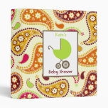 Baby Shower Binder Green Carriage & Paisley