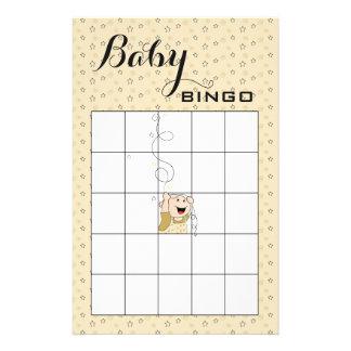 Baby Shower BINGO Gold Black Stars Baby Flyer