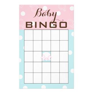 "Baby Shower BINGO ""PINK BLUE BABY"" Flyer"