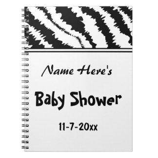 Baby Shower Black and White Zebra Pattern. Custom. Spiral Note Book