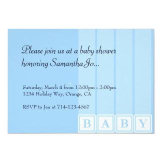 Baby Shower Blocks 5x7 Paper Invitation Card