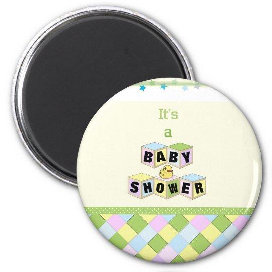 Baby Shower Blocks Magnet