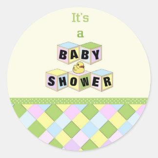Baby Shower Blocks Stickers