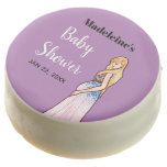 Baby Shower Blonde Lady in Maternity Long Dress Chocolate Covered Oreo