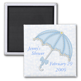 baby shower blue1, Jenny's , Shower, February 2... 2 Inch Square Magnet